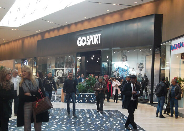 Cloisonnement placo platre Go Sport Mall of Sousse